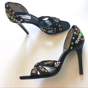 Steve Madden Scorch Black embellished heels size 7